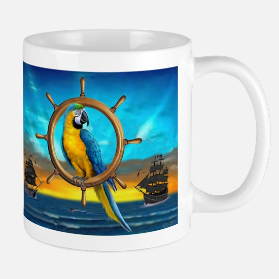 MACAW PIRATE PARROT Mugs