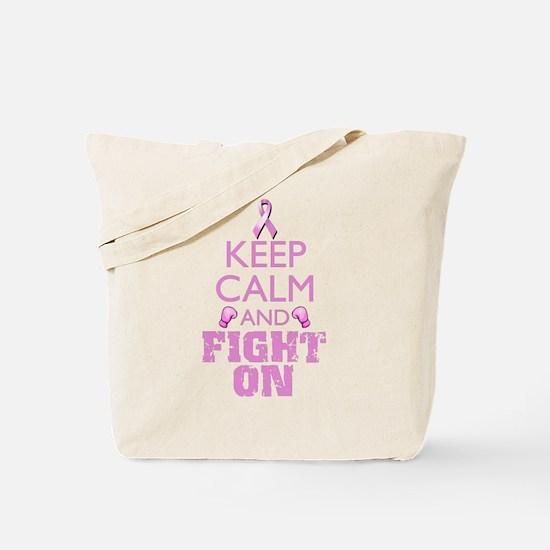 KeepCalmFightOn Tote Bag