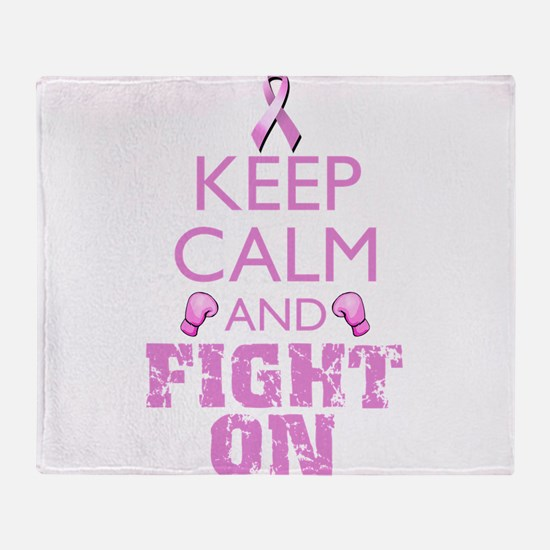 KeepCalmFightOn Throw Blanket