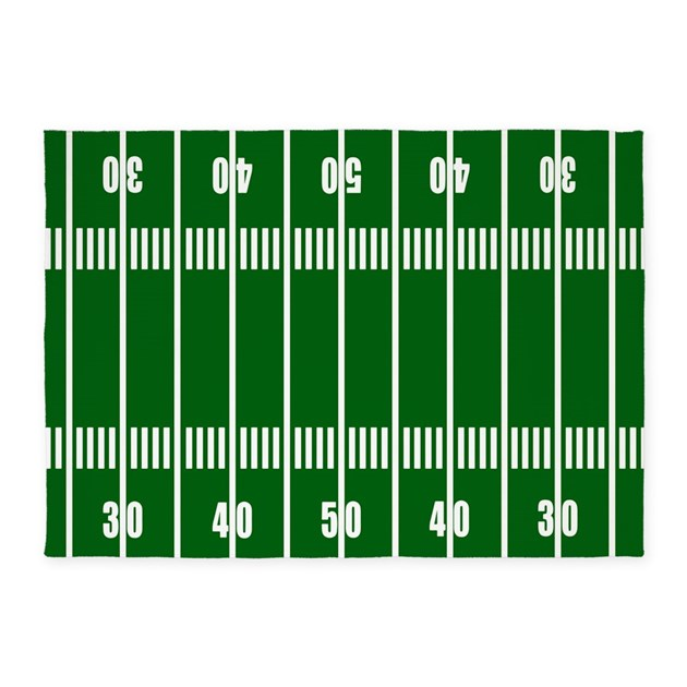 Football Field 5'x7'Area Rug By DecorativeDesigns