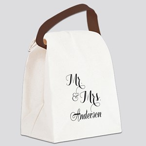 Mr. & Mrs. Personalized Monogramm Canvas Lunch Bag