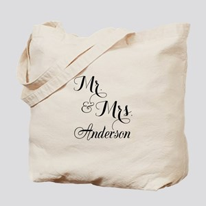 Mr. & Mrs. Personalized Monogrammed Tote Bag