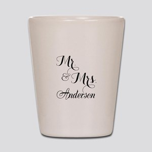 Mr. & Mrs. Personalized Monogrammed Shot Glass