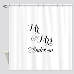 Mr. & Mrs. Personalized Monogrammed Shower Curtain
