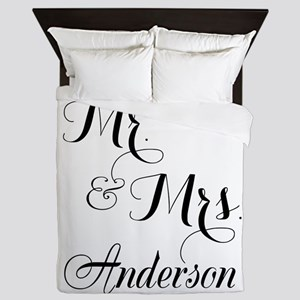 Mr. & Mrs. Personalized Monogrammed Queen Duvet