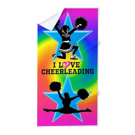 Cute Cheerleader Beach Towel