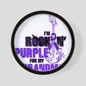 RockinPurpleForGrandma Wall Clock