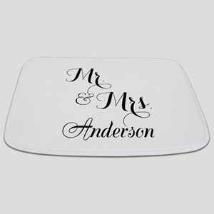 Mr and Mrs Personalized Monogrammed Bathmat