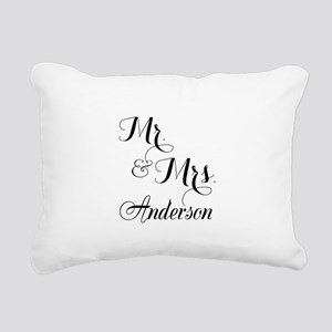 Mr and Mrs Personalized Monogrammed Rectangular Ca