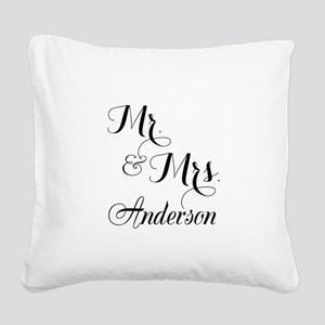 Mr and Mrs Personalized Monogrammed Square Canvas