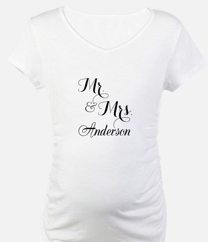 Mr and Mrs Personalized Monogrammed Shirt
