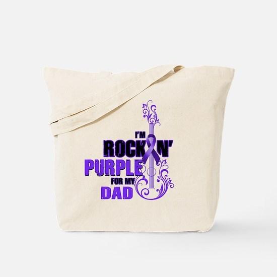 RockinPurpleForDad Tote Bag