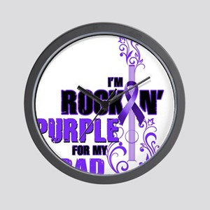 RockinPurpleForDad Wall Clock