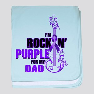 RockinPurpleForDad baby blanket