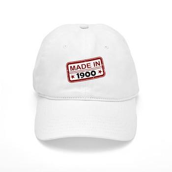 Stamped Made In 1900 Cap