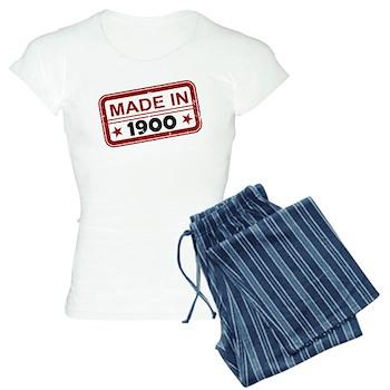Stamped Made In 1900 Women's Light Pajamas