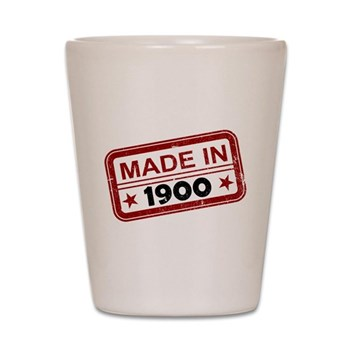 Stamped Made In 1900 Shot Glass