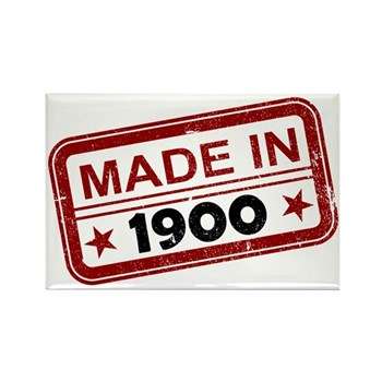 Stamped Made In 1900 Rectangle Magnet (100 pack)