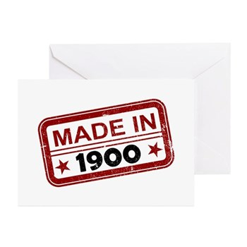 Stamped Made In 1900 Greeting Cards (20 pack)
