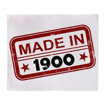 Stamped Made In 1900 Stadium Blanket