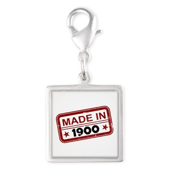 Stamped Made In 1900 Silver Square Charm
