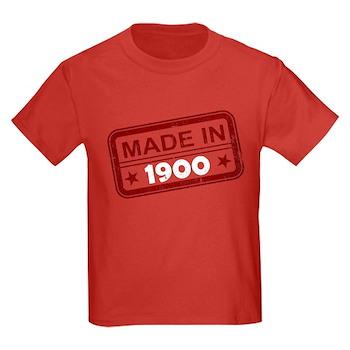 Stamped Made In 1900 Kids Dark T-Shirt