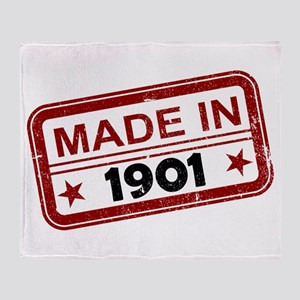 Stamped Made In 1901 Stadium Blanket