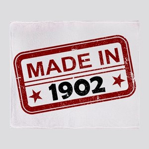 Stamped Made In 1902 Stadium Blanket