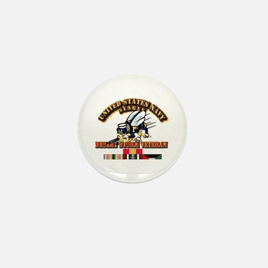 Navy - Seabee - Desert Storm Vet Mini Button