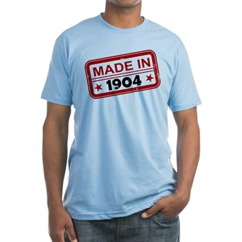 Stamped Made In 1904 Fitted T-Shirt
