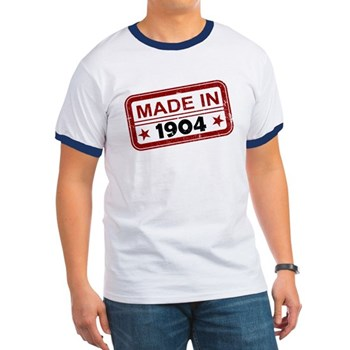 Stamped Made In 1904 Ringer T-Shirt