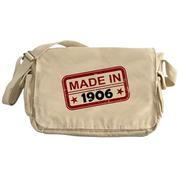Stamped Made In 1906 Canvas Messenger Bag