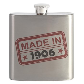 Stamped Made In 1906 Flask