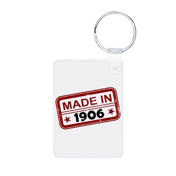 Stamped Made In 1906 Aluminum Photo Keychain