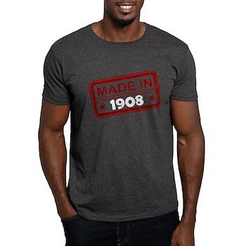 Stamped Made In 1908 Dark T-Shirt