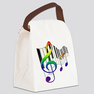 Rainbow Treble Clef Canvas Lunch Bag