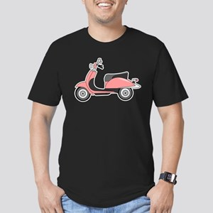 Cute Retro Scooter Pin Men's Fitted T-Shirt (dark)