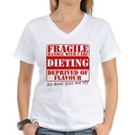 Diet - Dont piss me off Women's V-Neck T-Shirt