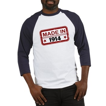 Stamped Made In 1914 Baseball Jersey