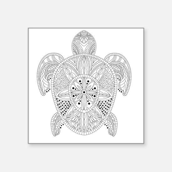 "Cute Tortoises Square Sticker 3"" x 3"""