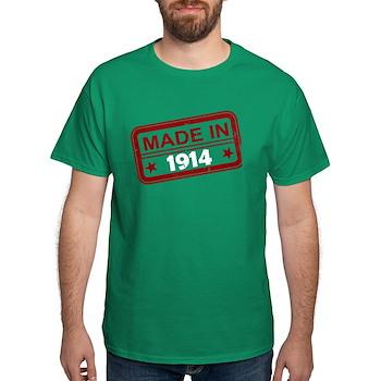 Stamped Made In 1914 Dark T-Shirt