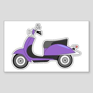 Cute Retro Scooter Purple Sticker (Rectangle)