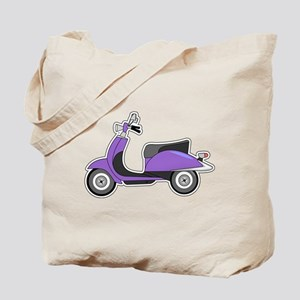 Cute Retro Scooter Purple Tote Bag