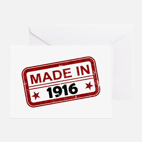 Stamped Made In 1916 Greeting Card
