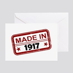 Stamped Made In 1917 Greeting Card