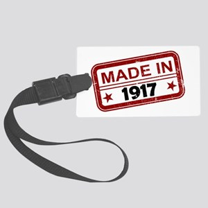Stamped Made In 1917 Large Luggage Tag