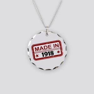Stamped Made In 1918 Necklace Circle Charm