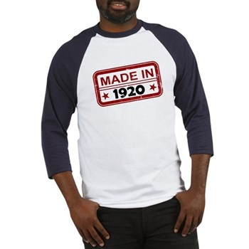 Stamped Made In 1920 Baseball Jersey
