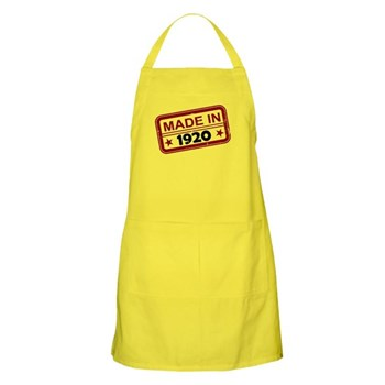 Stamped Made In 1920 Apron