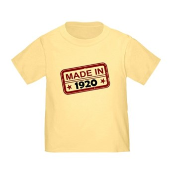 Stamped Made In 1920 Infant/Toddler T-Shirt